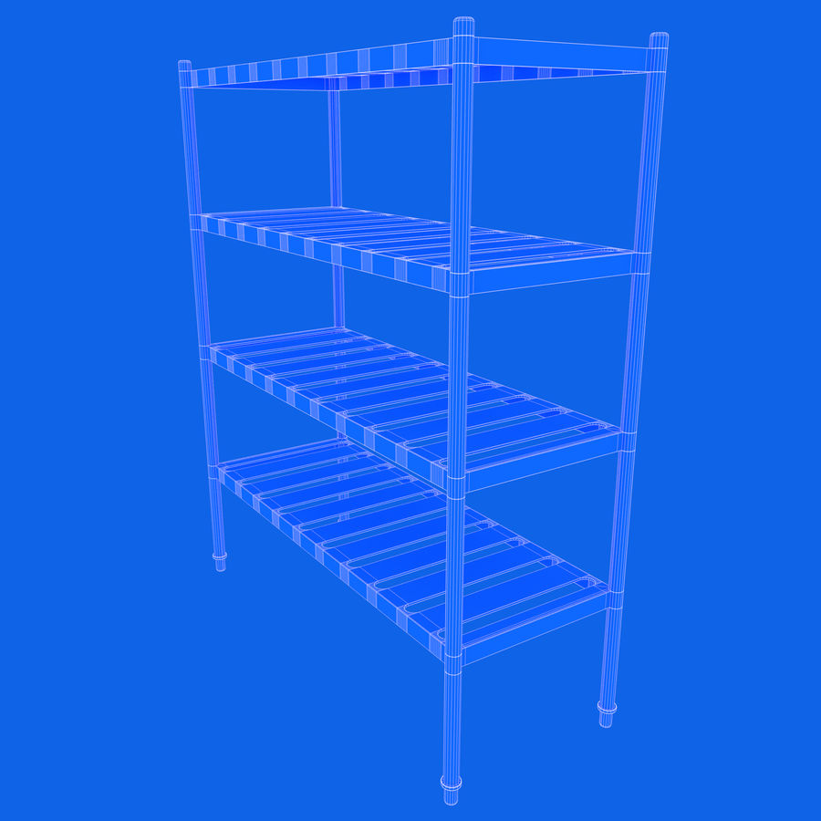 Kitchen Rack royalty-free 3d model - Preview no. 17