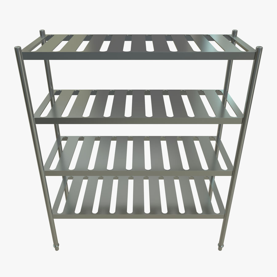 Kitchen Rack royalty-free 3d model - Preview no. 4