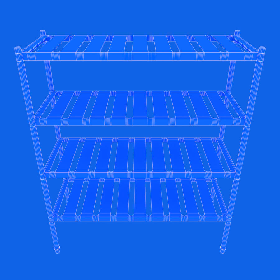 Kitchen Rack royalty-free 3d model - Preview no. 14