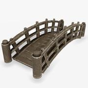 Trä liten bro 3d model