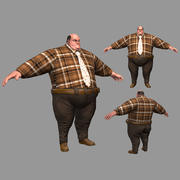 Homme gros 3d model