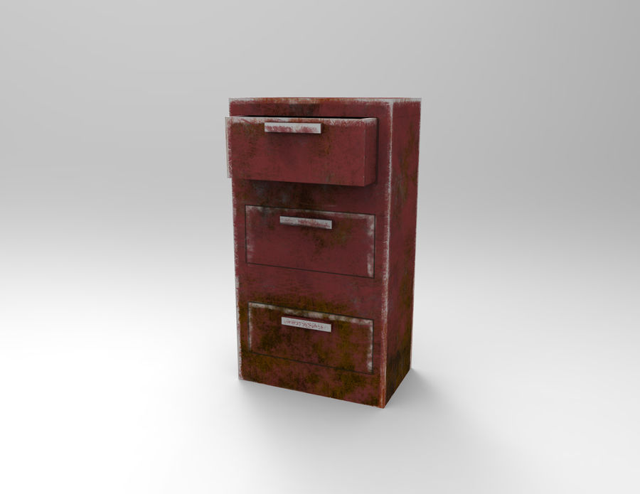 Drawer royalty-free 3d model - Preview no. 1