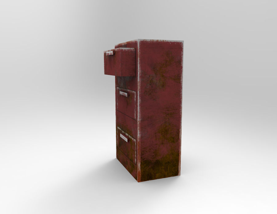 Drawer royalty-free 3d model - Preview no. 3