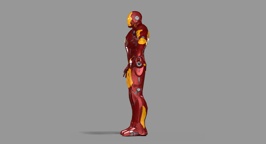 Ironman Hero royalty-free 3d model - Preview no. 18
