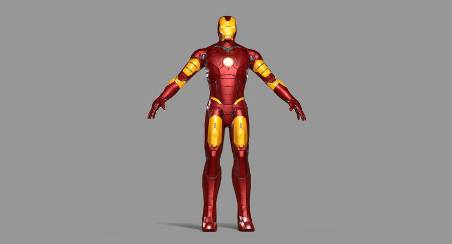 Ironman Hero royalty-free 3d model - Preview no. 19