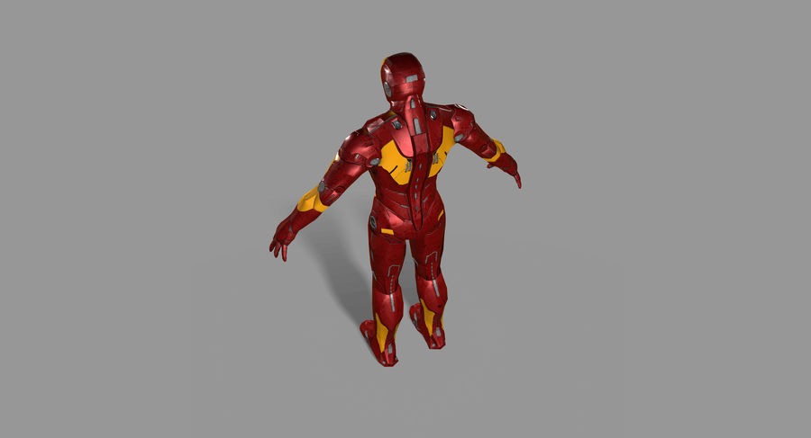 Ironman Hero royalty-free 3d model - Preview no. 14