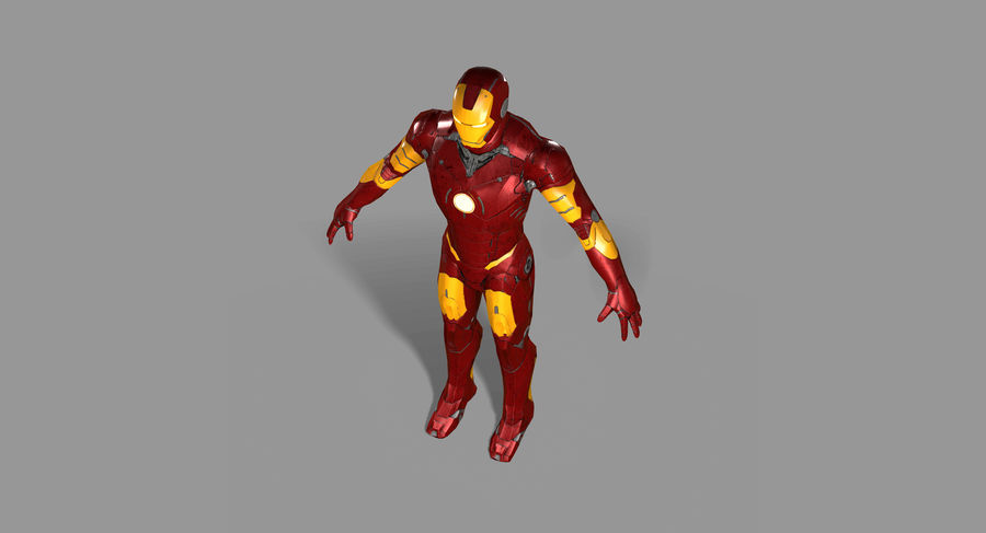 Ironman Hero royalty-free 3d model - Preview no. 11