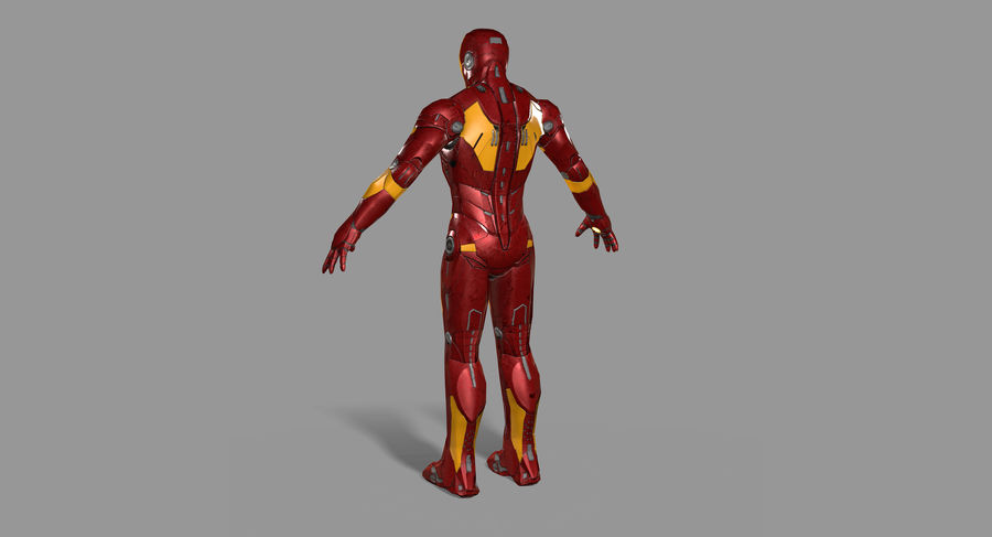 Ironman Hero royalty-free 3d model - Preview no. 7