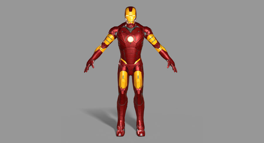 Ironman Hero royalty-free 3d model - Preview no. 2