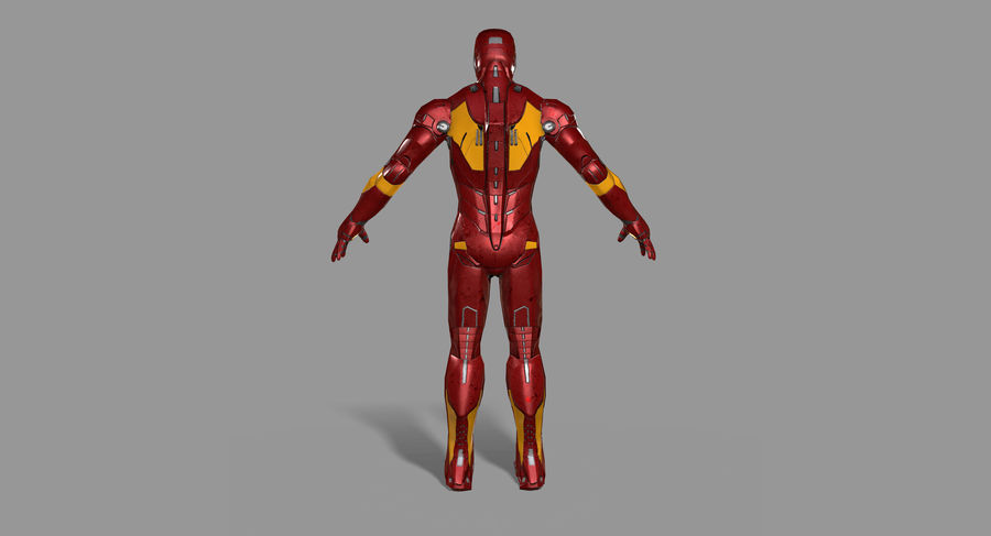 Ironman Hero royalty-free 3d model - Preview no. 6