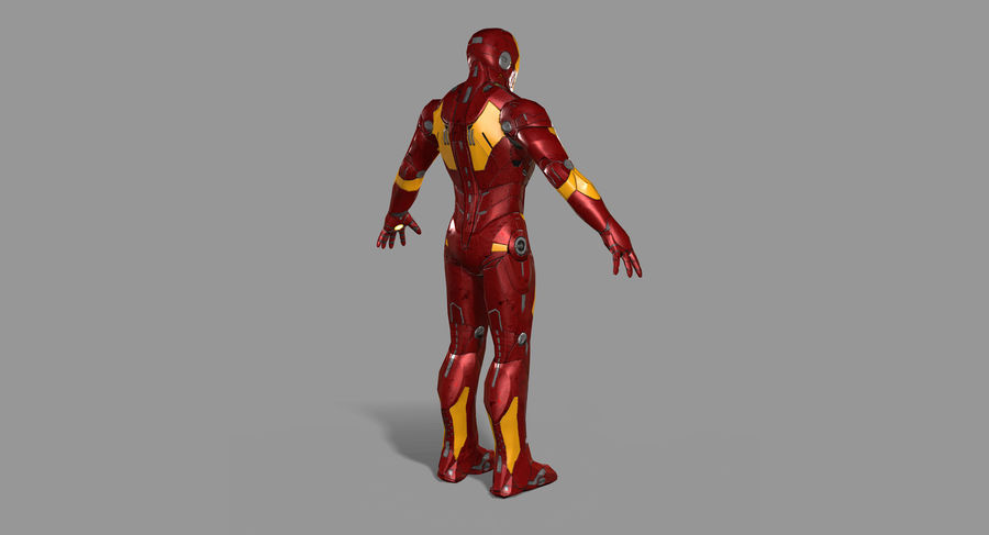 Ironman Hero royalty-free 3d model - Preview no. 5