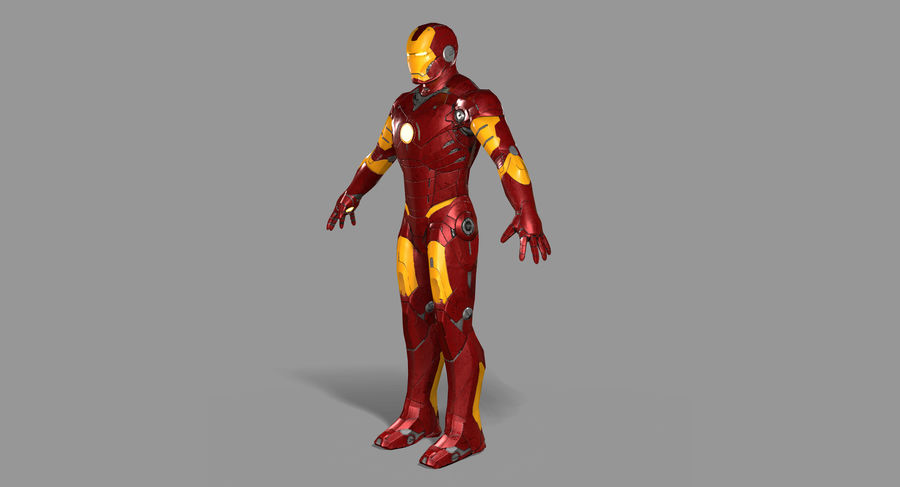Ironman Hero royalty-free 3d model - Preview no. 9