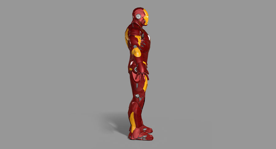 Ironman Hero royalty-free 3d model - Preview no. 4