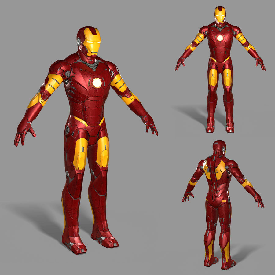 Ironman Hero royalty-free 3d model - Preview no. 1