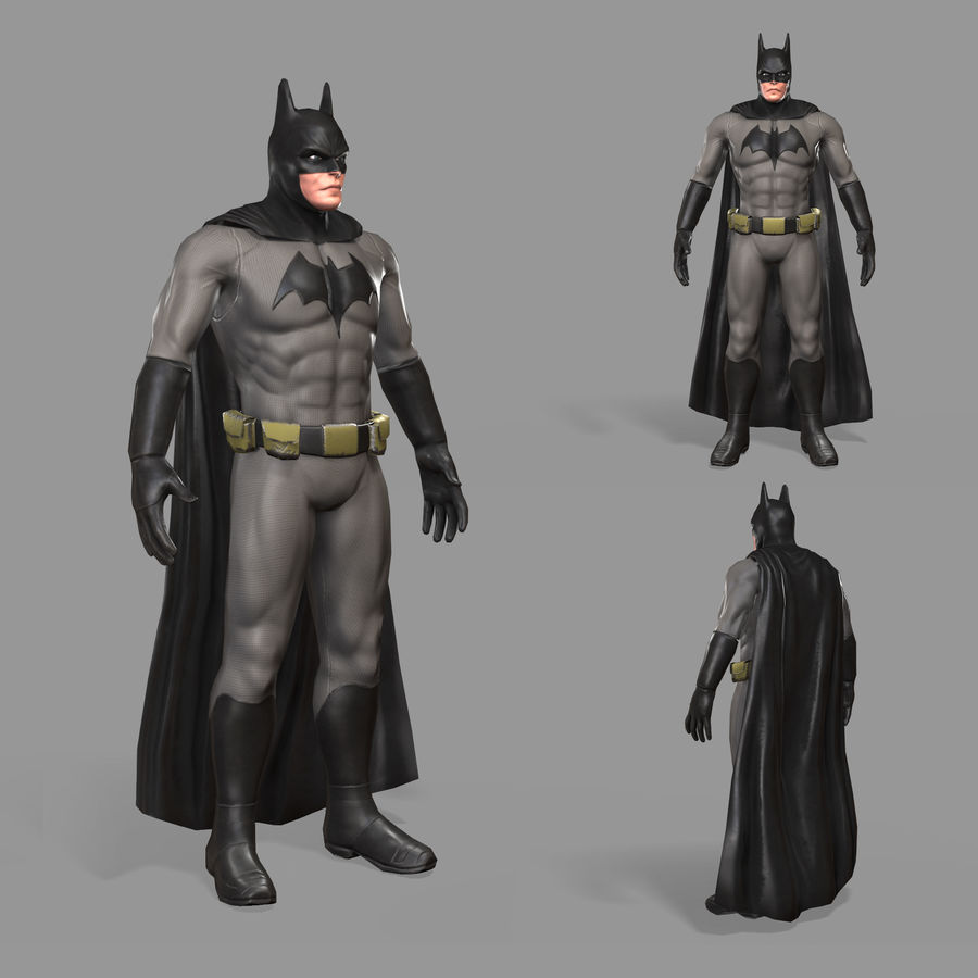 Batman Hero royalty-free 3d model - Preview no. 1