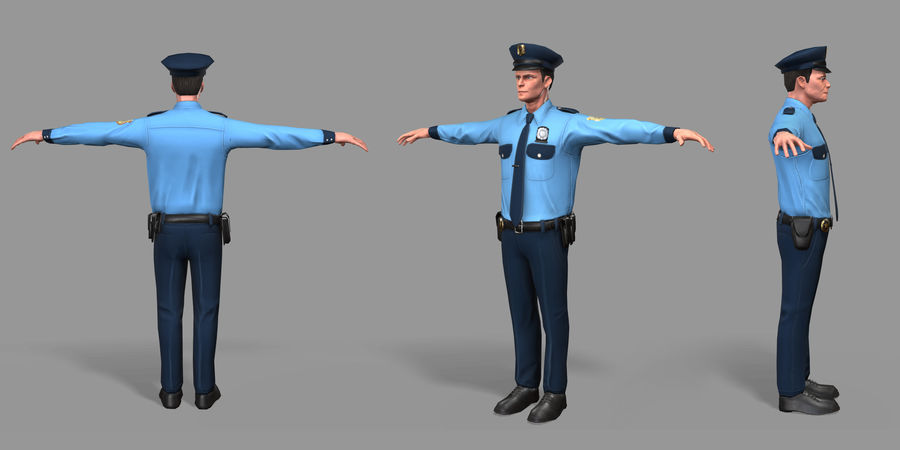 Polis royalty-free 3d model - Preview no. 30