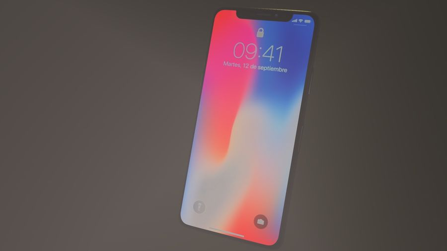 iPhone X royalty-free 3d model - Preview no. 17