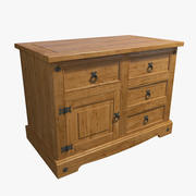 Wood Massive Chest of Drawers 3d model