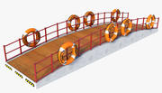Vessel Ship Stairs 3d model