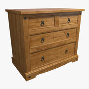 Massive Wood Chest of Drawers 3d model