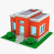 Cartoon House 3 3d model