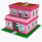 Cartoon House 4 3d model