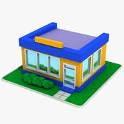 Cartoon House 6 3d model