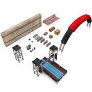 低ポリ小道具 3d model
