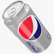 Pepsi light Can 3d model