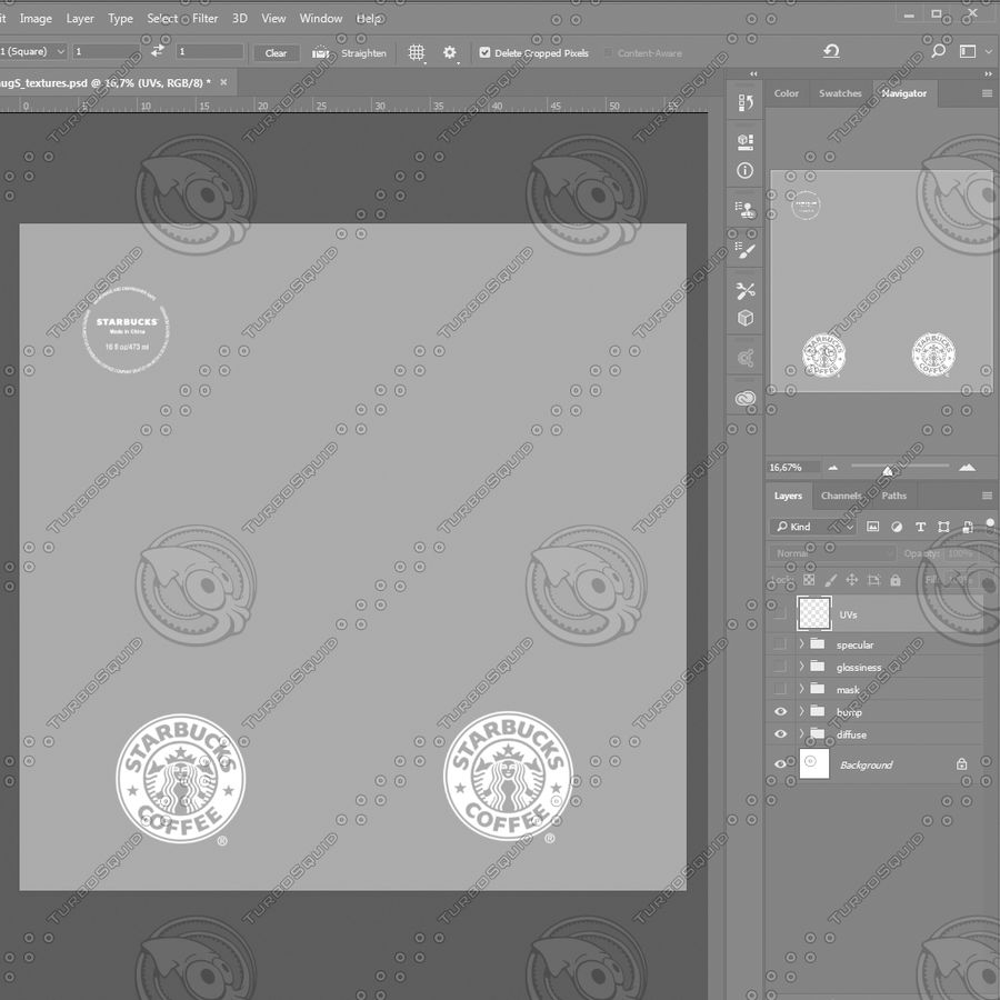 Tasse Starbucks S royalty-free 3d model - Preview no. 10