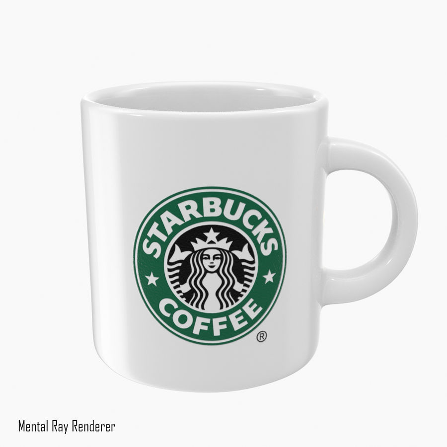 Tasse Starbucks S royalty-free 3d model - Preview no. 6