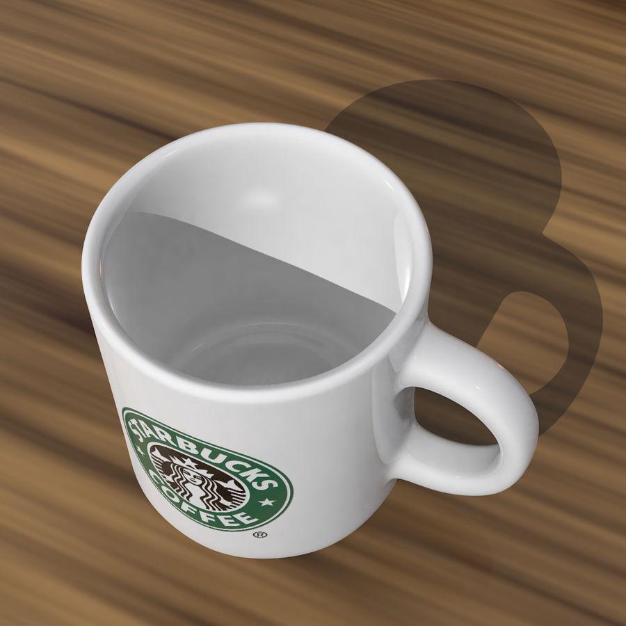 Tasse Starbucks S royalty-free 3d model - Preview no. 3