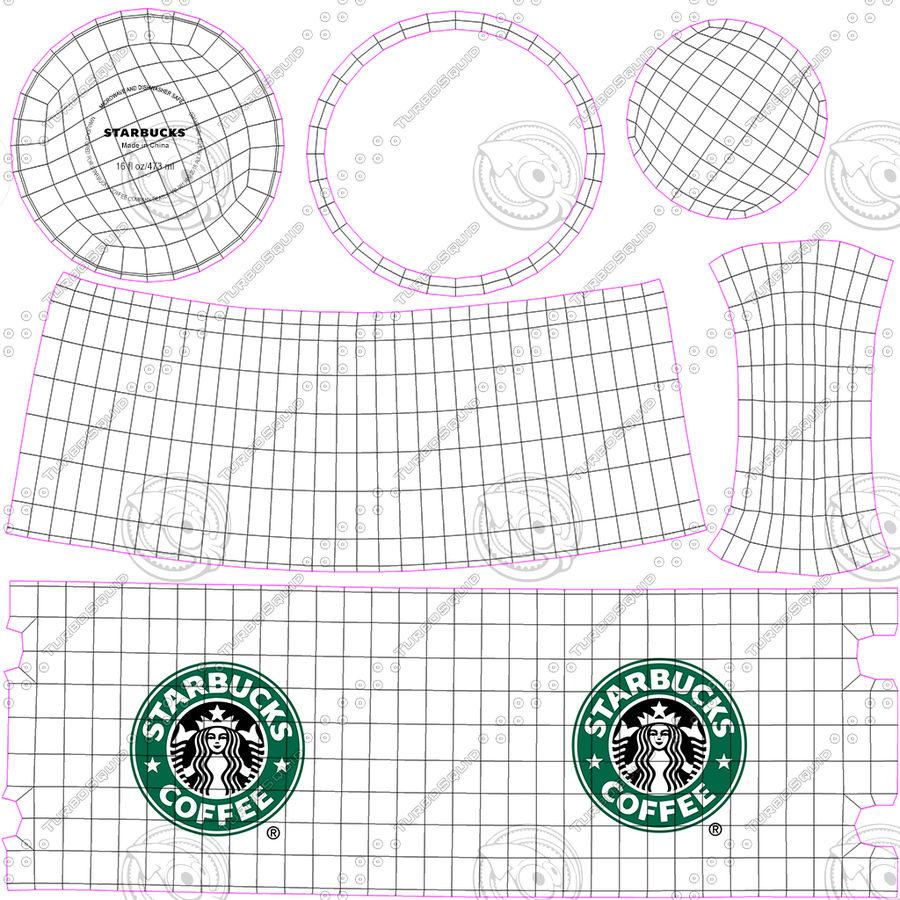 Tasse Starbucks S royalty-free 3d model - Preview no. 12