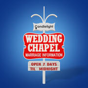 Wedding Chapel Sign 3d model