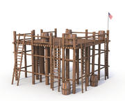 Struktura drewna 3d model