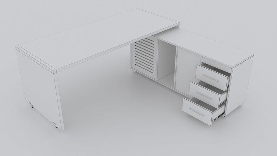 Biurko kierownika royalty-free 3d model - Preview no. 9