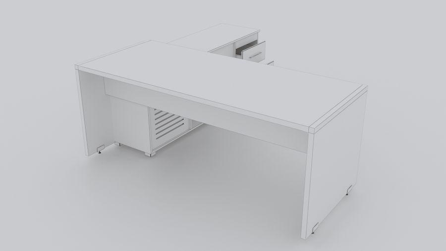 Biurko kierownika royalty-free 3d model - Preview no. 10