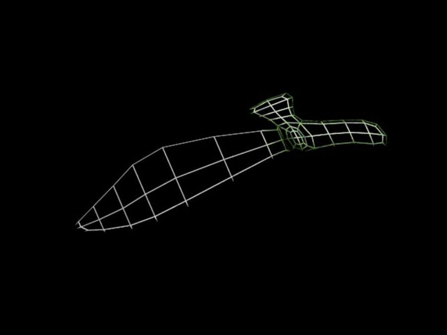 刀 royalty-free 3d model - Preview no. 8