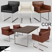 椅子和办公桌-Quant COR 3d model