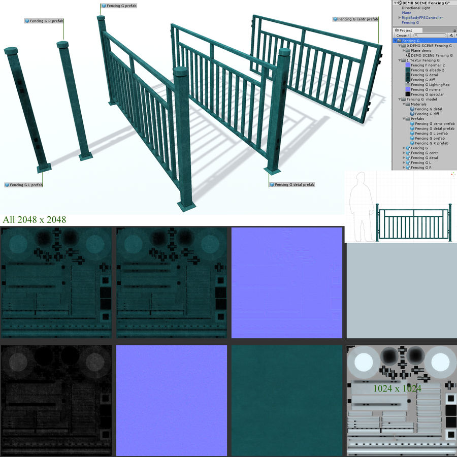 栅栏G royalty-free 3d model - Preview no. 5