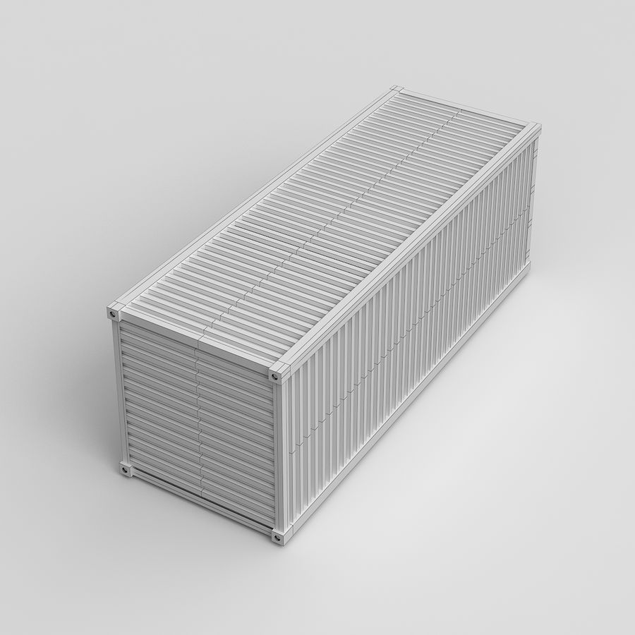 Shiping Container royalty-free 3d model - Preview no. 8