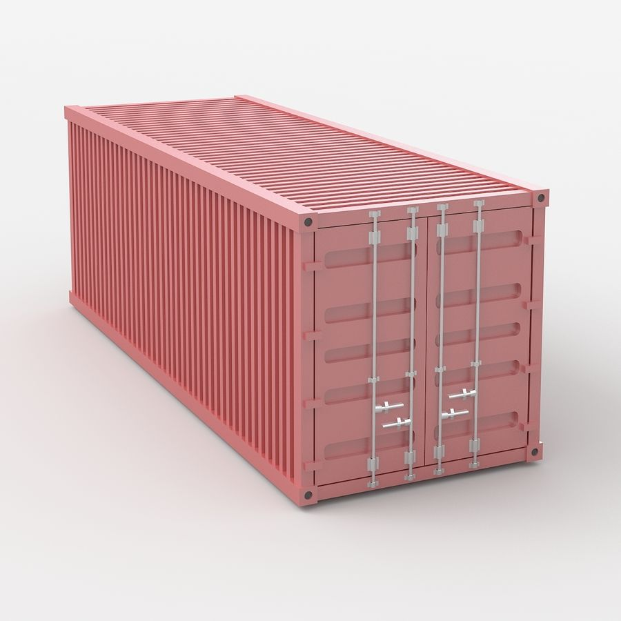 Shiping Container royalty-free 3d model - Preview no. 2