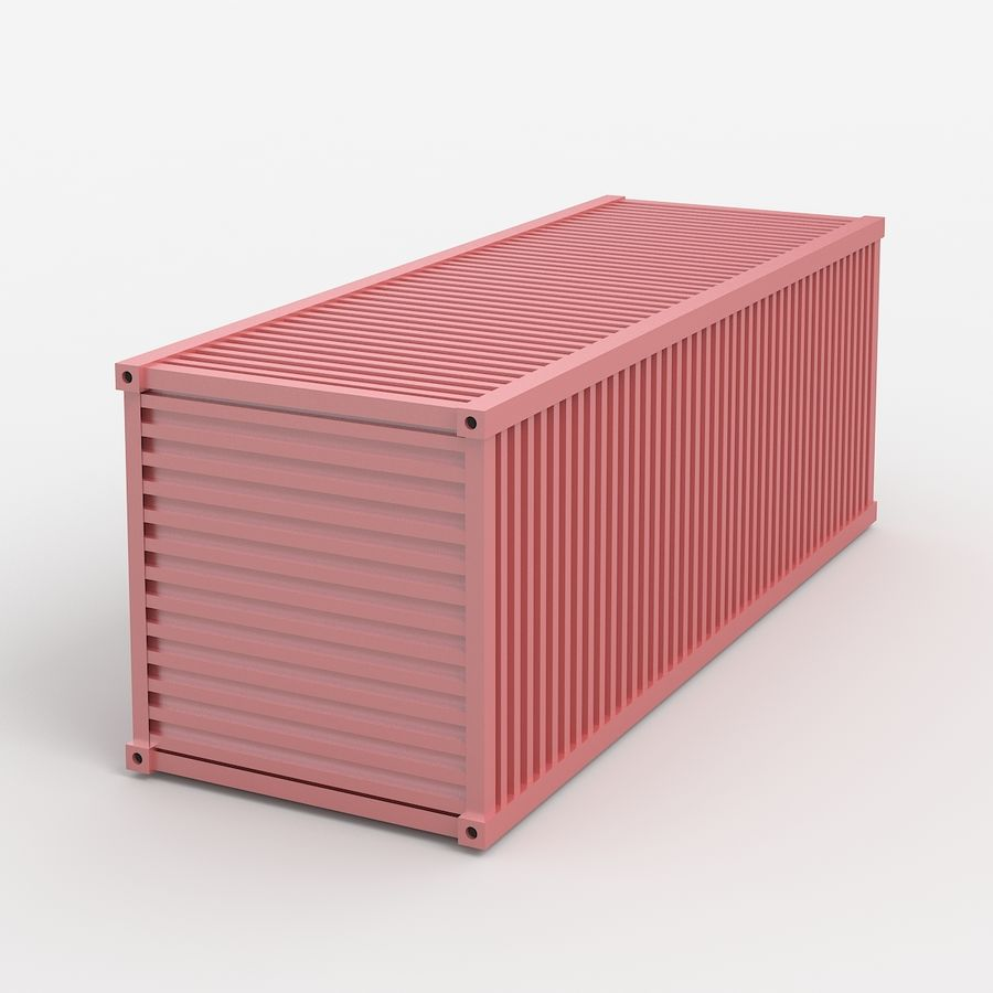 Shiping Container royalty-free 3d model - Preview no. 4