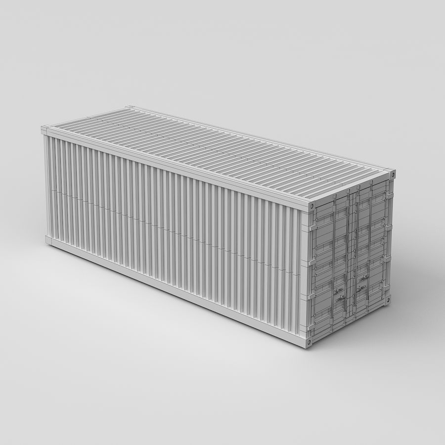 Shiping Container royalty-free 3d model - Preview no. 7