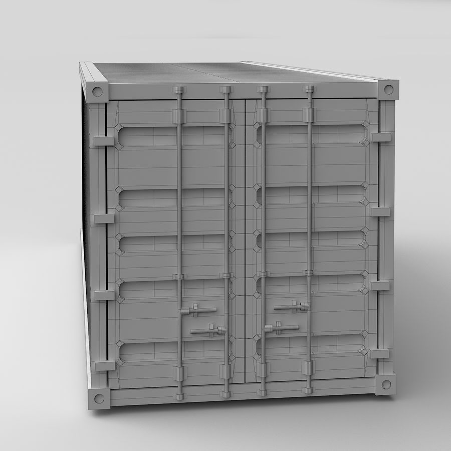 Shiping Container royalty-free 3d model - Preview no. 6