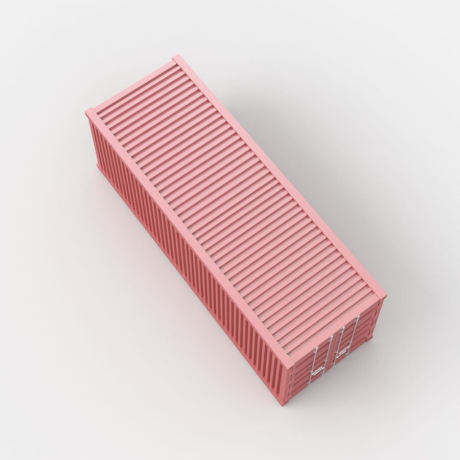 Shiping Container royalty-free 3d model - Preview no. 3