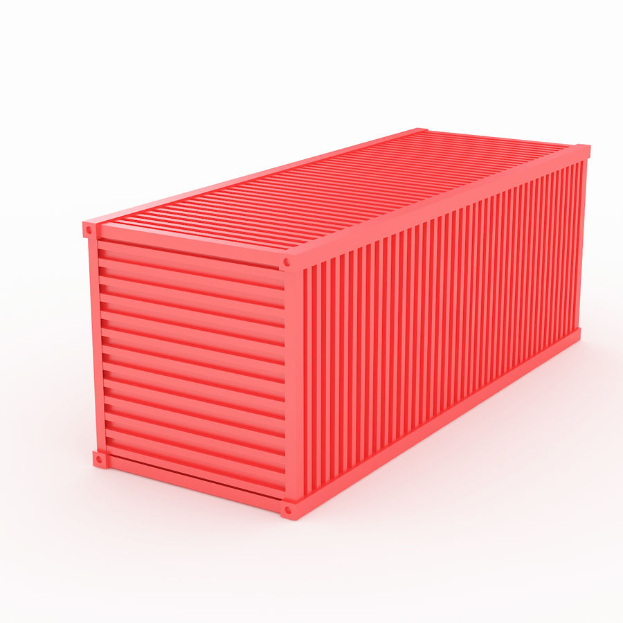Shiping Container 2 royalty-free 3d model - Preview no. 5