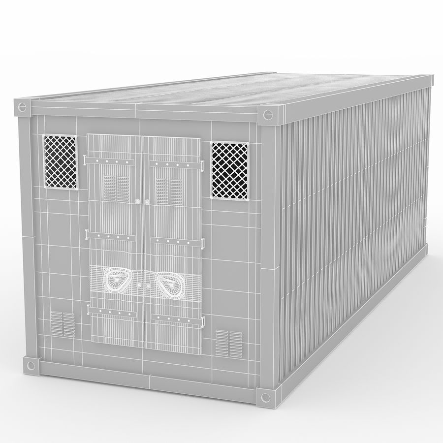 Shiping Container 2 royalty-free 3d model - Preview no. 8