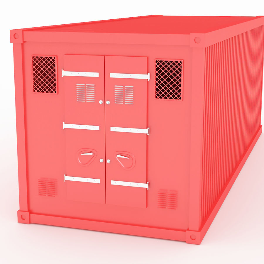 Shiping Container 2 royalty-free 3d model - Preview no. 3