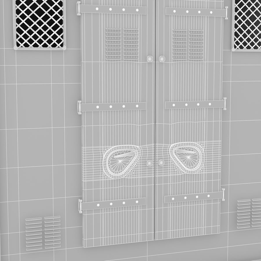 Shiping Container 2 royalty-free 3d model - Preview no. 9
